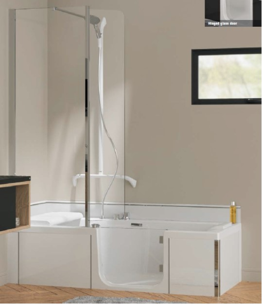 Kineduo Bath Corner KD316R, KD316L, KD317R, KD317L, KD318R, KD318L close up