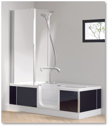 Kineduo Bath Front and End Panel Black TAB-D467FVA-99, 477, 318