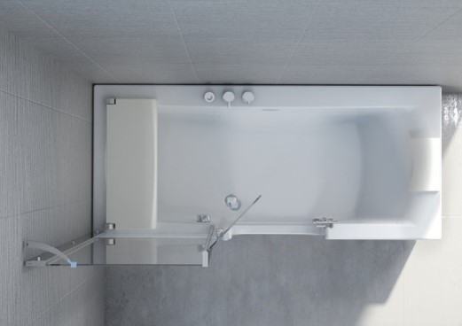 Kineduo Bath Seat in situ KD3SEAT